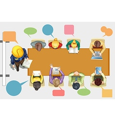 Business people in the meeting room vector