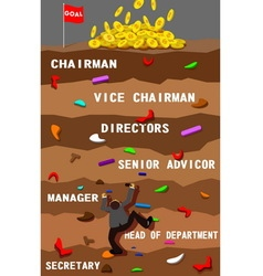 Businessman and position working vector