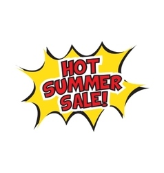 Hot summer sale banner design vector