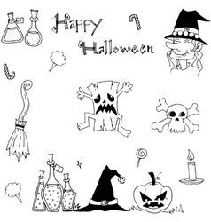 Doodle of element halloween for kids vector