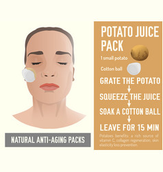 Anti-aging face pack vector