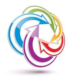 Arrows abstract conceptual symbol template 3d vector