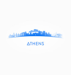 athens greece skyline silhouette vector image