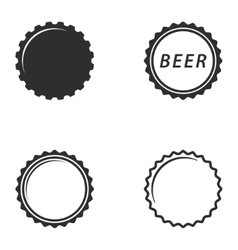 Bottle cap icon set vector image vector image