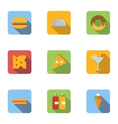 Brunch icons set flat style vector