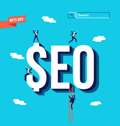 Business seo internet marketing vector