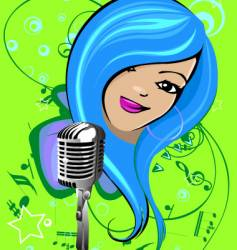 cartoon singer vector image vector image