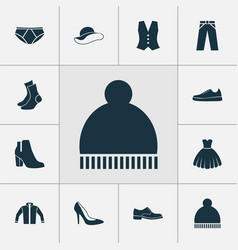 Clothes icons set collection of elegance pants vector
