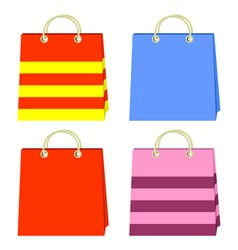 Color bags vector
