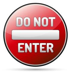 Do not enter - one way vector