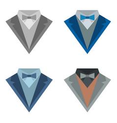 Four color suits vector