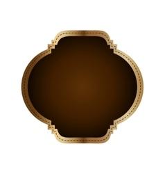 label frame luxury elegant con graphic vector image