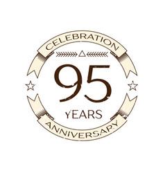 ninety five years anniversary celebration logo vector image vector image