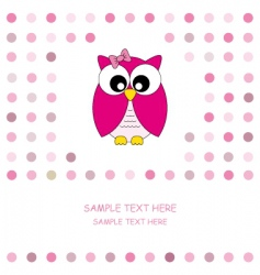 owl pink vector image vector image