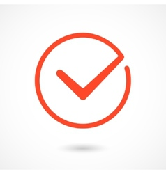 Red Tick Icon vector image