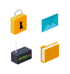 Router folder email security connection technology vector