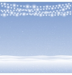 snow falling on blue background Garlands vector image vector image