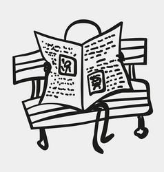 Stick men or figures read newspaper vector