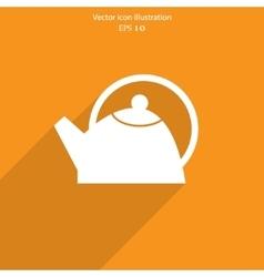 Tea pot web icon vector