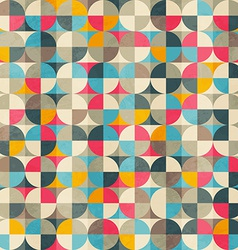 vintage circles seamless pattern vector image vector image