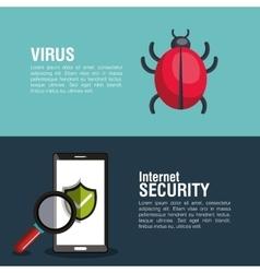 internet security information icon vector image