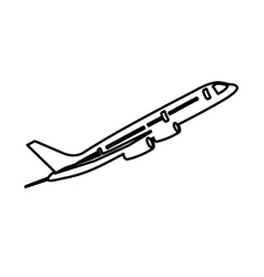 Airplane isolated pictogram image vector
