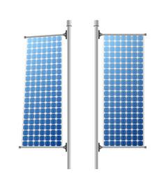 Solar panels ecological power sources set vector