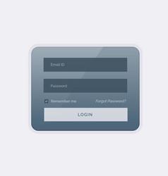 Clean modern login form ui template design vector