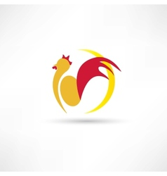 rooster wakes up in the morning icon vector image