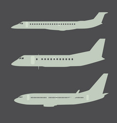 Aircraft silhouettes side view part 2 vector image