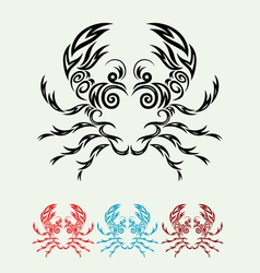 Crab ornate vector