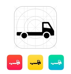 Empty truck icon vector