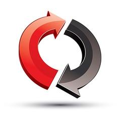 3d loop 2 arrows abstract icon vector