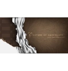 Chocolate bar in paper packaging vector