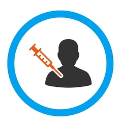 Patient vaccination rounded icon vector