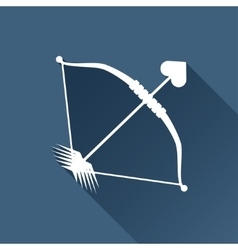 Amour arrow icon vector