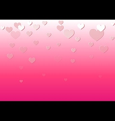 Falling heart pink background vector