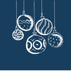 Simple charcoal draw of christmas balls vector