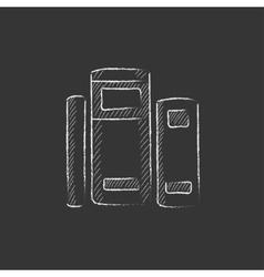 Books Drawn in chalk icon vector image