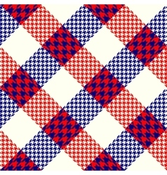 Diagonal plaid background vector image