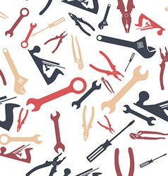 Abstract Seamless Hand tools pattern vector image