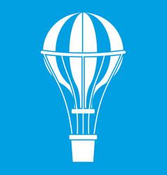 Air balloon journey icon white vector