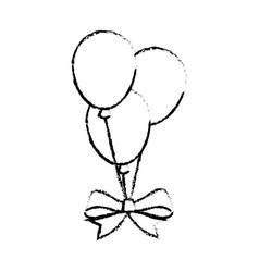 Air balloons celebration vector