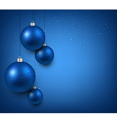 Background with blue christmas balls vector image vector image