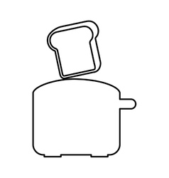 Bread toaster appliance icon vector