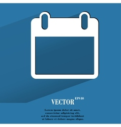 Calendar Flat modern web button with long shadow vector image vector image