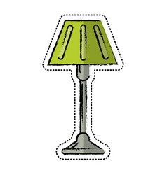 Cartoon floor lamp decoration icon vector