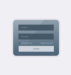 Clean modern login form ui template design vector