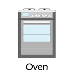 color of the oven vector image vector image
