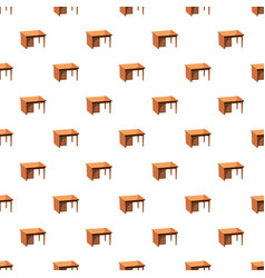Computer desk pattern vector